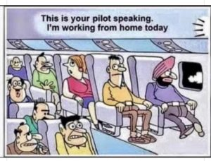 Airplane Pilot's Work From Home Meme