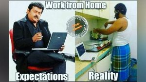 Work From Home in The Kitchen