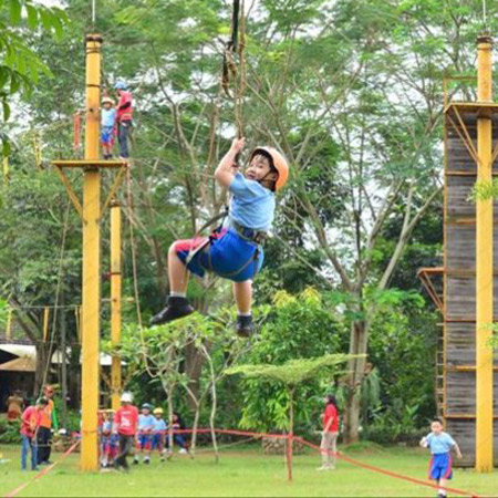 flying fox kampung main cipulir